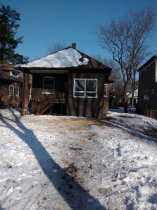 Winter Back Yard Ashland House