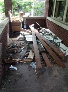 Demo on The Front Porch