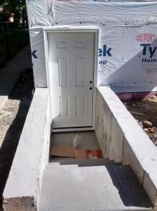 New Exterior Basement Door