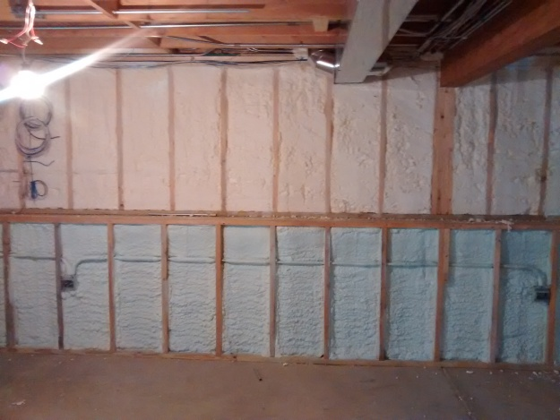 Spray Foam in Basement Addition