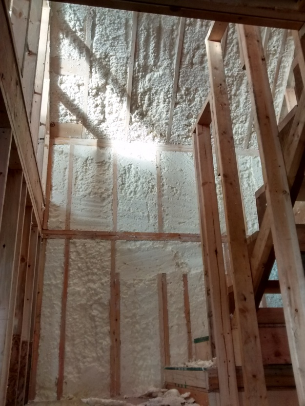 Spray Foam Stairwell