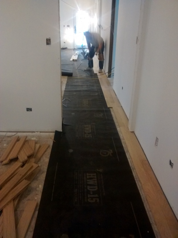 Begining Floor Installation