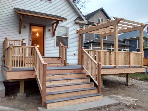 Finished (Pre-Stain) Porch West Elevation Part 2