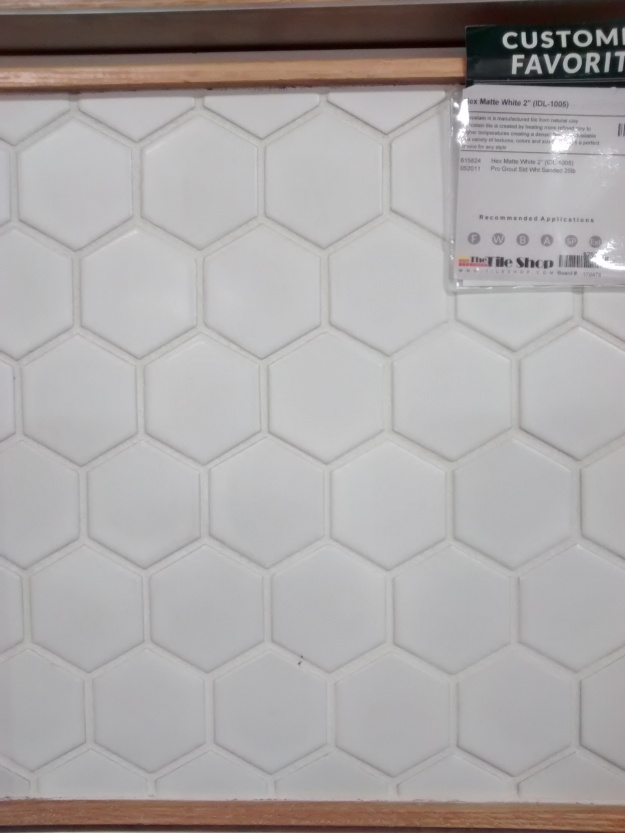 Sample of 2%22 Hex with Grout