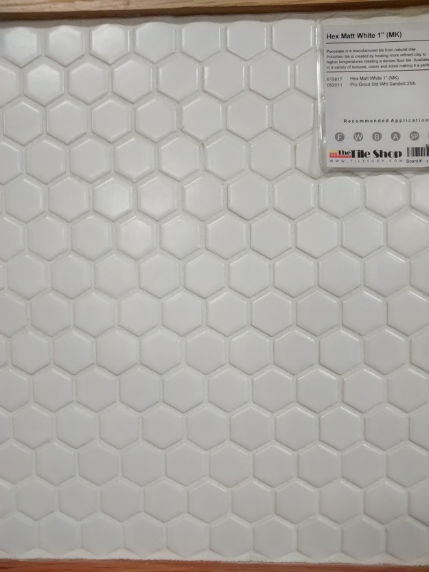 Sample of Hex Tile with Grout