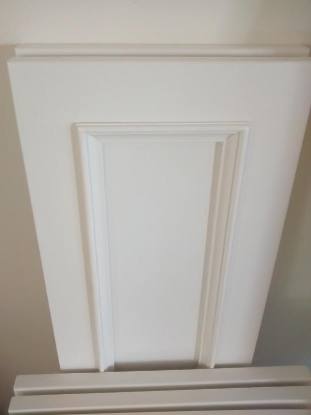 White bathroom cabinet door profile design