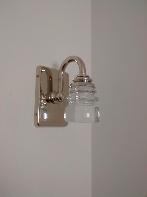 Crystal LED bathroom sconce design