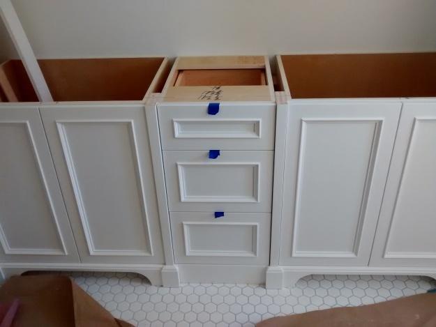 Custom base cabinets master bath design