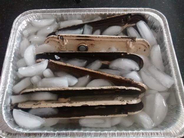 restoring antique doorknob back plates
