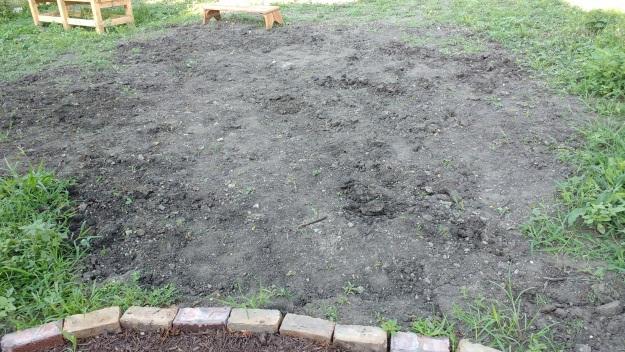 backyard home improvement project