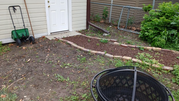 back yard home improvement project