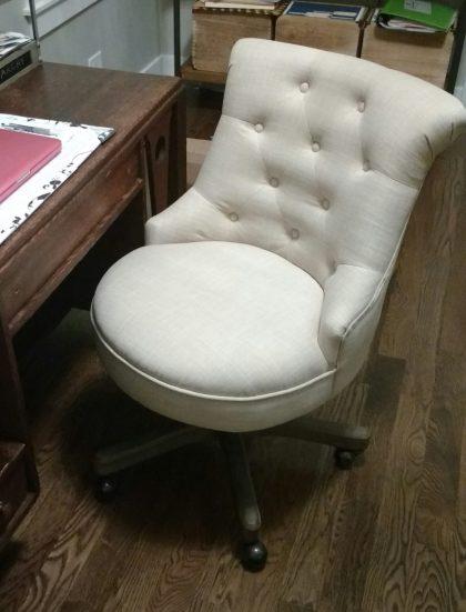 Elsie Upholstered Office Chair Assembled