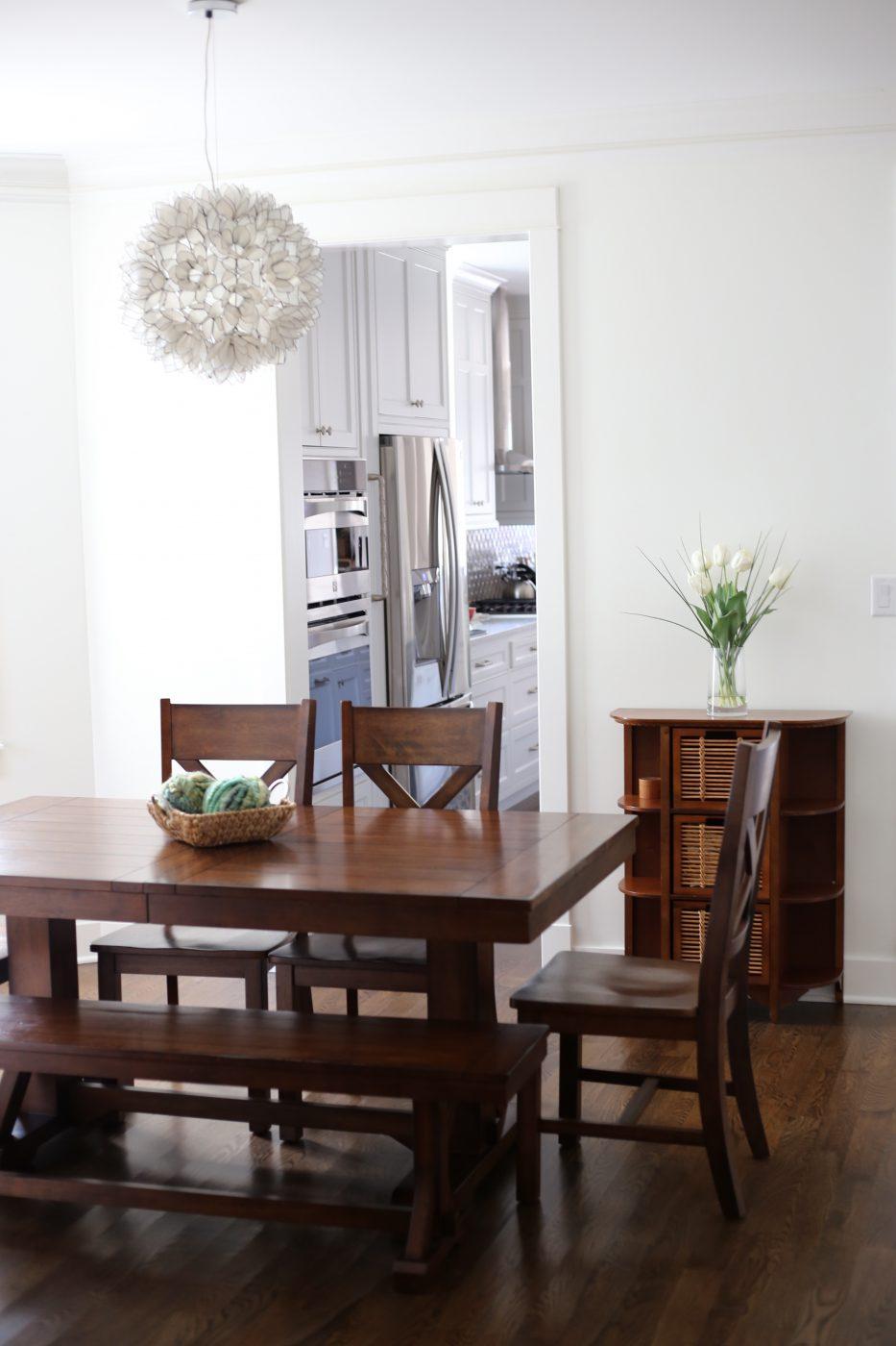 Benjamin Moore Simply White White Oak Floors Walnut Stain
